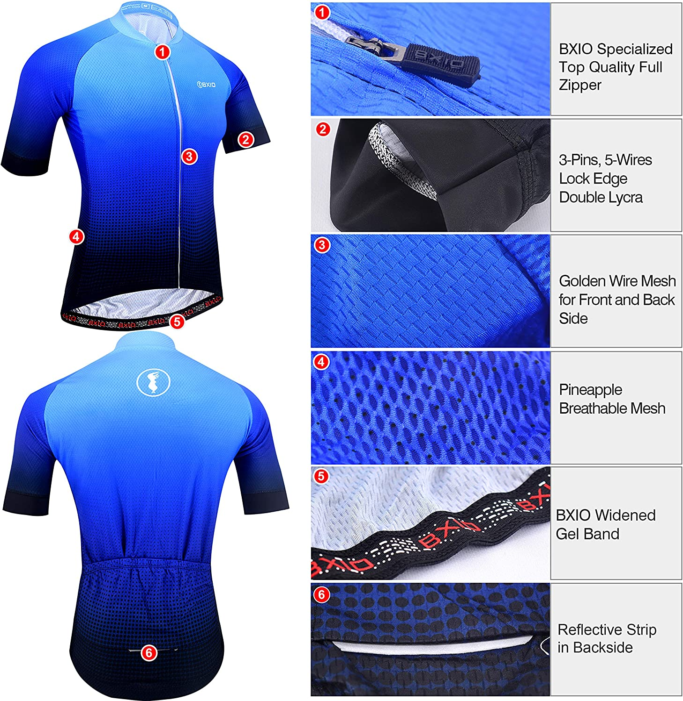 Atmungsaktive Fahrradbekleidung Mit Tragerhose Mit 3d Pad Fur Das Radfahren Von Mtb Radtrikot Herren Kurzarm Blau 198 Radsport Sportausrustung Bekleidung