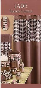 "Home Goods NY Jade Purple Shower Curtain 70"" x 72"""