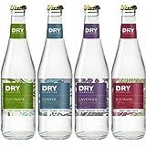 DRY Sparkling Lightly Sweet Cane Sugar Soda, Mixed Bottle Pack, 12 oz. Glass Bottles, 12 Count
