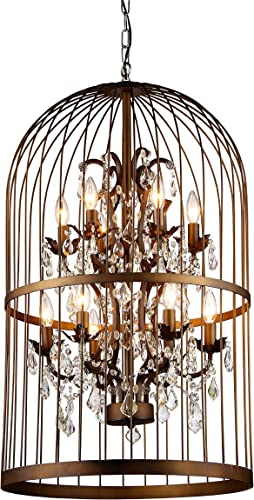 Whse of Tiffany RL8058B Rinee Cage Chandelier