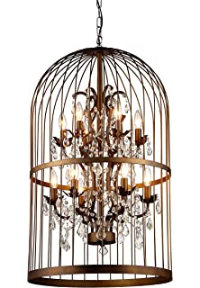 Amazon creative co op metal birdcage chandelier with crystals whse of tiffany rl8058b rinee cage chandelier aloadofball Gallery
