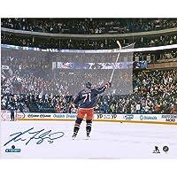 "$49 » Nick Foligno Columbus Blue Jackets Autographed 16"" x 20"" Stick Salute Photograph - Fanatics Authentic Certified"
