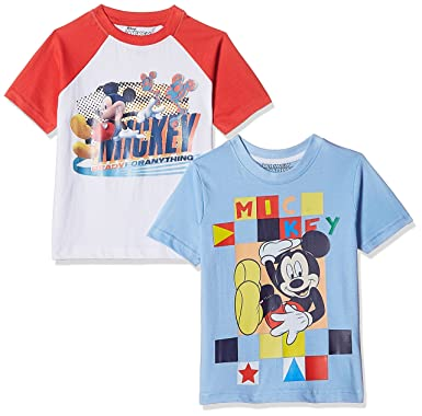 45f34da50 Disney-Mickey Mouse & Friends Boys' T-Shirt (Pack of 2 ...