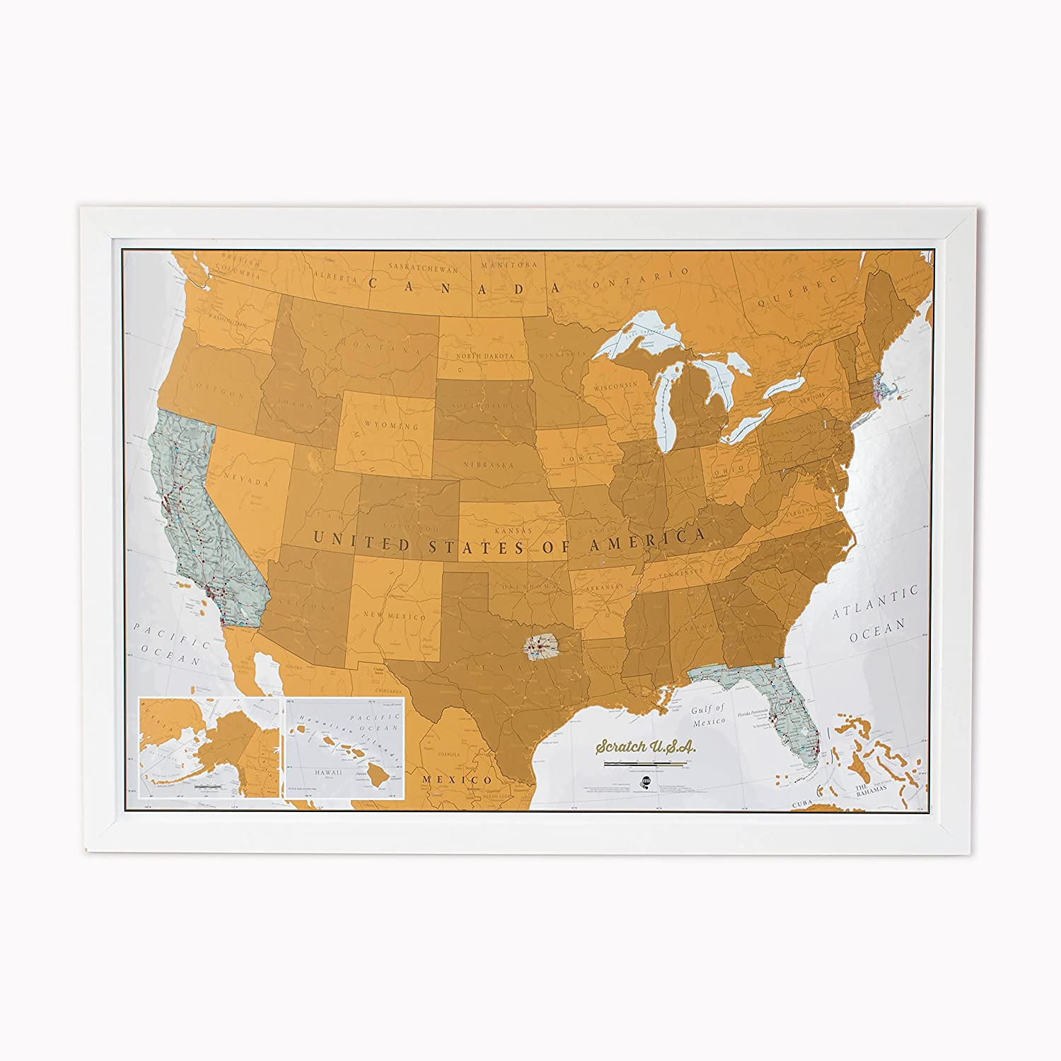 Amazoncom  Scratch USA Scratch Off Places You Travel America - United states watercolor map