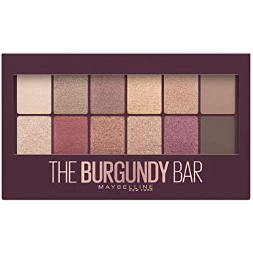 55b4153e496 Amazon.com : Maybelline Eyeshadow Palette, The Burgundy Bar : Beauty