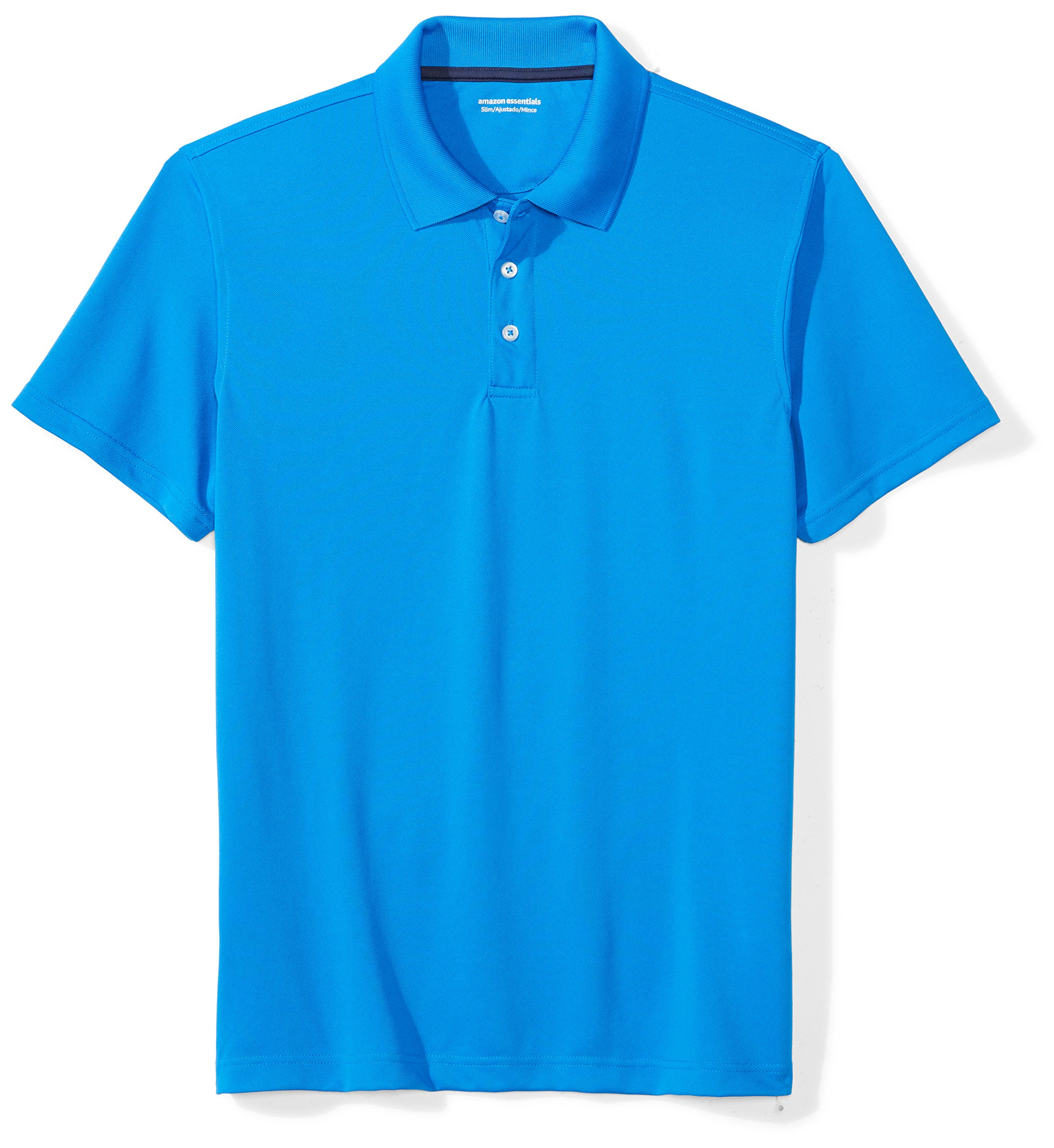 Amazon Essentials Men's Slim-Fit Quick-Dry Golf Polo Shirt, Electric Blue, Small by Amazon Essentials