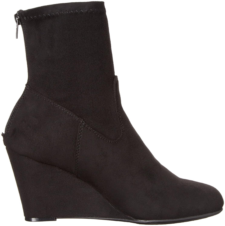 Čínská prádelna Dámské 4939 upoutané klínové klínové boty Černá suede suede  d7a1c84 - catuma.club b8306403d1