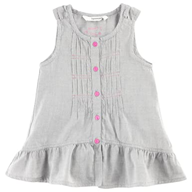 ff5d44378 3Pommes 3531102 Baby Girl s Chambray Dress Light Mocked Grey 6 ...