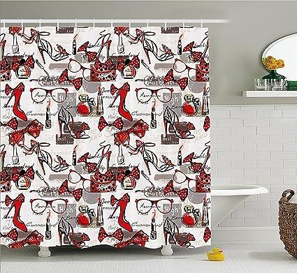 Amazon.com: Mirryderr Fashion House Decor Shower Curtain, High Heels ...