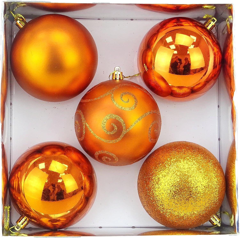 Albero di Natale Palle di Decorazione di s di Natale Albero di Natale Palle Golden Pallina Novella Regalo del Partito Ornament Decor Hanging Feewerain 24pcs 3 cm a Arancione
