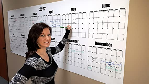 Kühlschrank Jahreskalender : Dry erase wand calendar 2018 91 4 cm groß 91 4 cm hoch x 243 8 cm