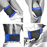 GelpacksDirect Reusable Hot and Cold Gel Pack with Compress Wrap (Medium 13 x 26 cm) - Gel Ice Packs for Sports Injuries - Multi-purpose Heat Pack for Muscle Pain Relief (Most Body Parts)