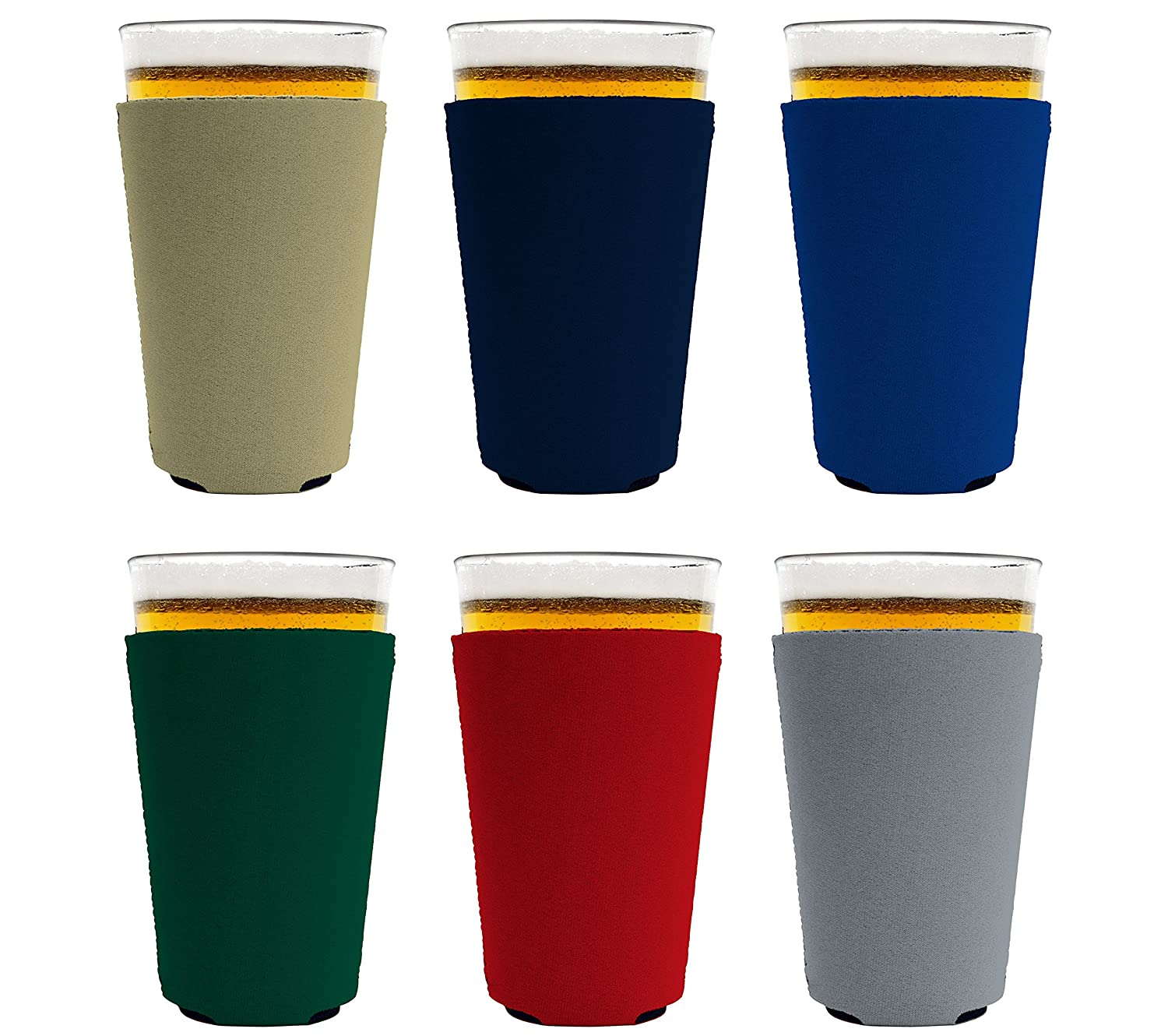 Coolie Junction Blank Neoprene Collapsible Pint Glass Coolie 6, Various
