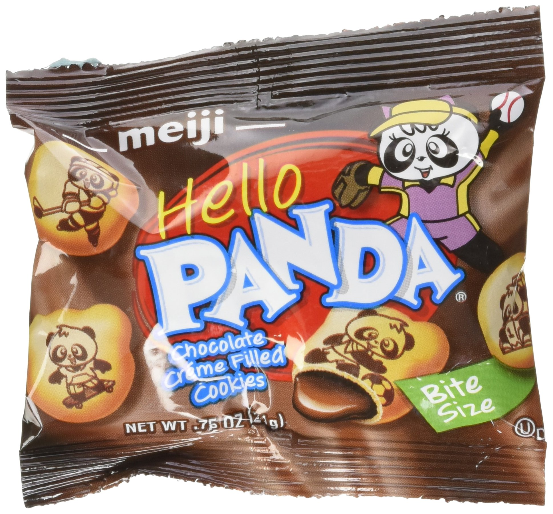 Meiji Hello Panda Chocolate Creme Filled Cookies Jumbo Box - 32 Bags (32 - .75 Oz Bags = 24 Oz) by Meiji