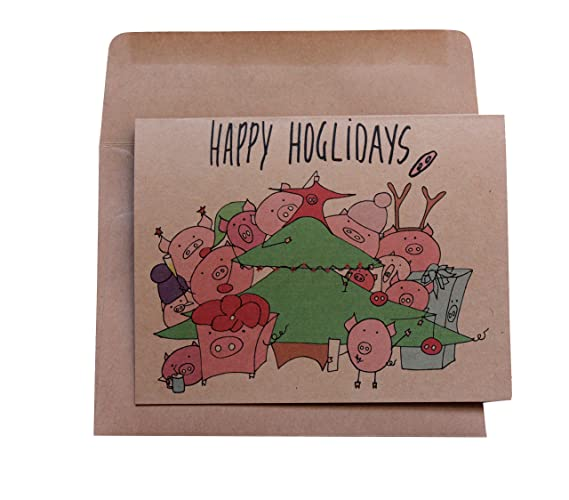 Amazon com: Funny Christmas cards set of 6 cards - Holiday