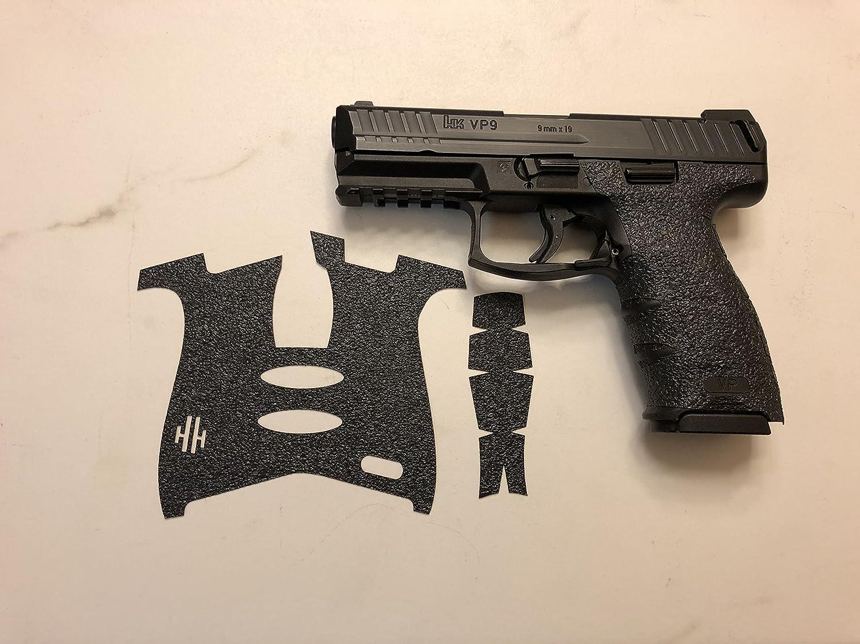 Amazon Com Handleitgrips Heckler Koch Vp9 Gray Textured Rubber Gun Grip Enhancement Gun Parts Kit Black Sports Outdoors