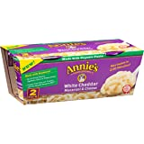 Annie's Macaroni and Cheese, Microwave Cups, Pasta & White Cheddar Mac and Cheese, 2.01 oz Cup (, (2 Pack))