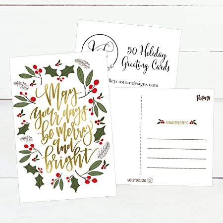 Amazon 50 green gold holiday greeting cards cute fancy amazon 50 green gold holiday greeting cards cute fancy blank winter christmas postcard set bulk pack of premium seasons greetings note m4hsunfo