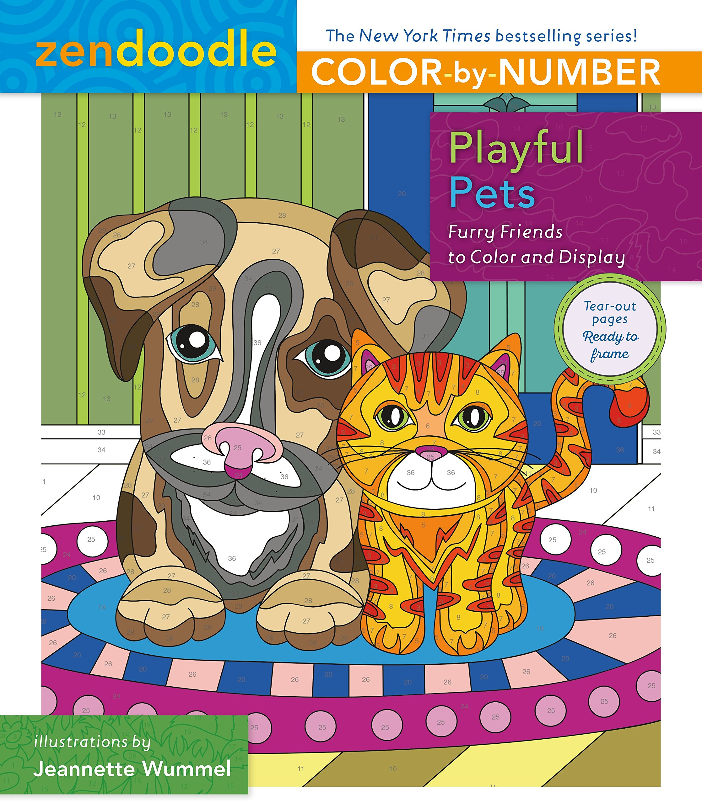 Zendoodle Color Number Playful Friends product image
