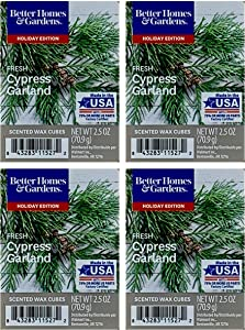 Better Homes and Gardens Fresh Cypress Garland Wax Cubes - 4-Pack