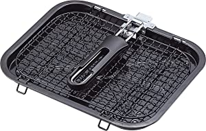 JapanBargain 1918, Fish Broiler Grill Rack Japanese Shioyaki BBQ Grill Basket for Vegetables Fishes Shrimp Chops Ribs
