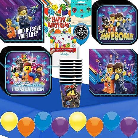 Amazon Com Lego Movie 2 Birthday Party Supplies Bundle Of Cups