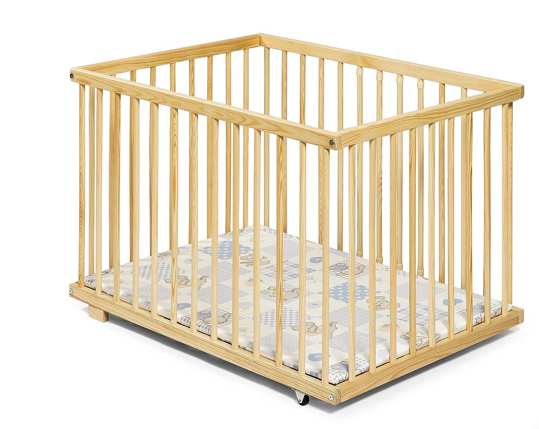 Baby Playpen | Wooden | 100x75 cm | KOKO-Kinderartikel 0410-ZB