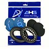 Replacement ear cushions for Bose QuietComfort 2 (QC2) and QuietComfort 15 (QC15) headphones (QC2/15/AE2 Ear Pads, Black and Blue Scrims)