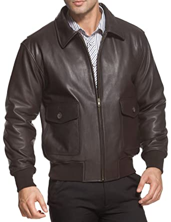 Airborne Leathers Mens G2 Bomber Leather Flight Jacket at Amazon ...