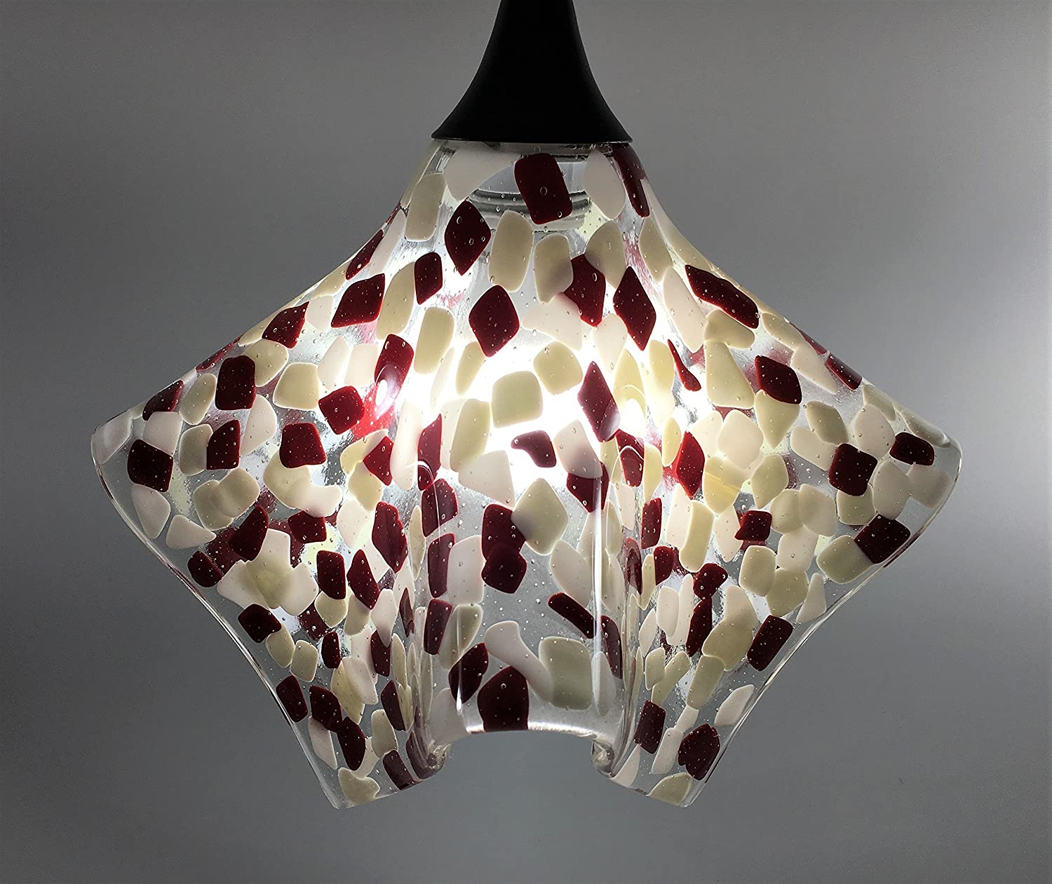 Choice of Colors and Size Embedded Glass Chip Pendant Light Shade