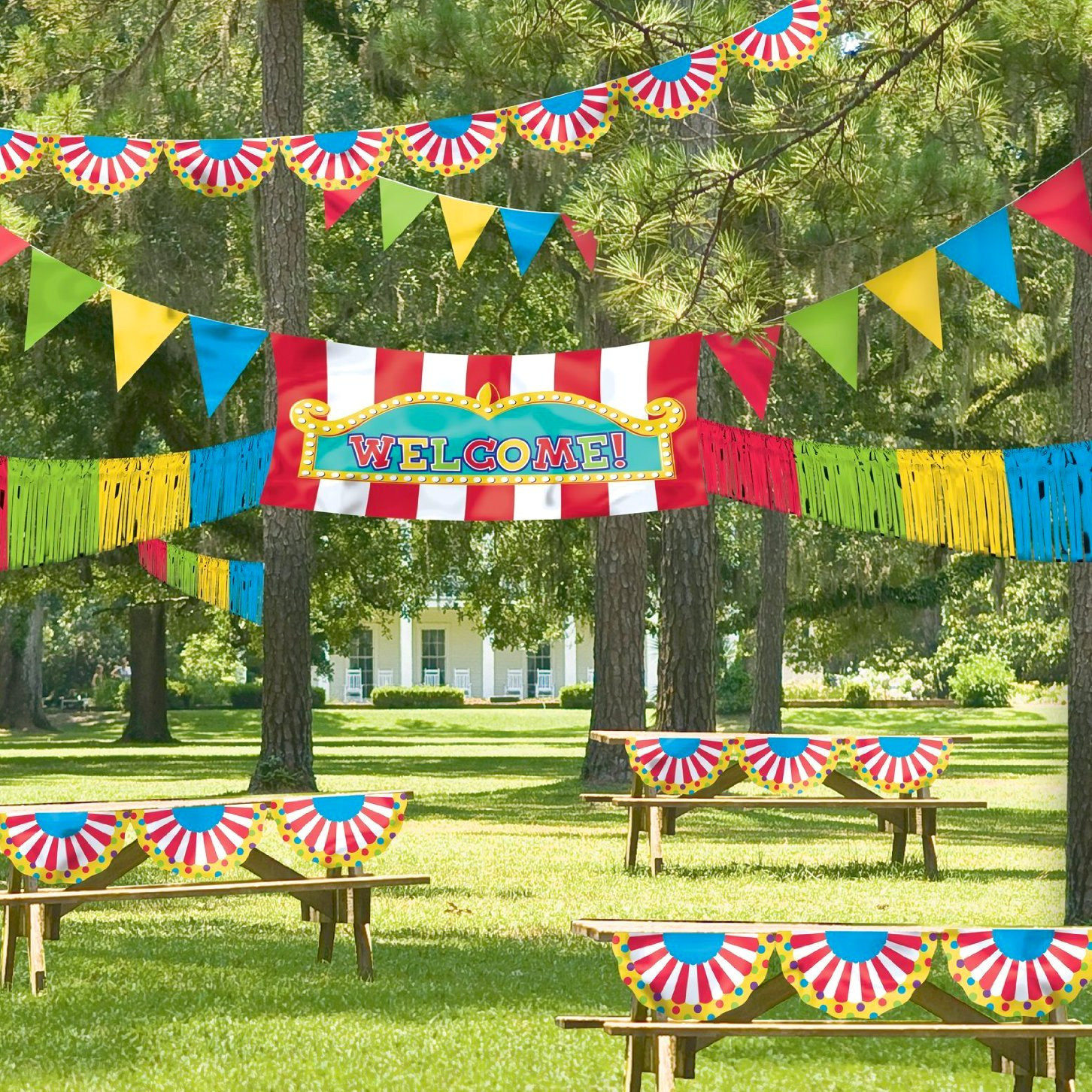 Amscan Party Rainbow Crepe Streamer with Party Decorating Kit Maven Gifts