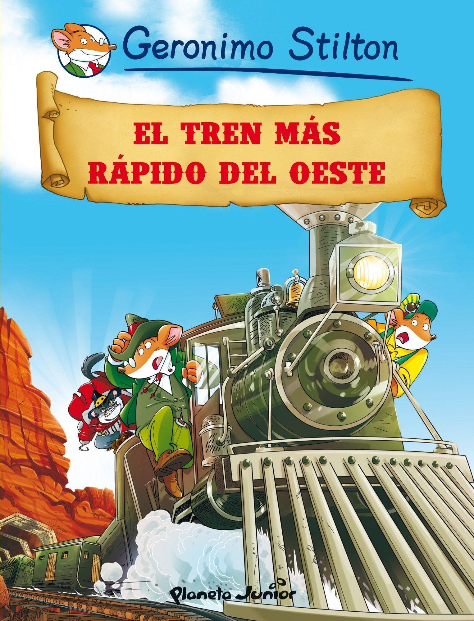 El tren más rápido del oeste: Cómic Geronimo Stilton 13: Amazon.es ...