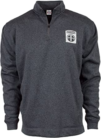 Military Shirts U.S. Army 82nd Airborne Division Cosmic Fleece Quarter-Zip  Pullover Sweatshirt f4ac5d878