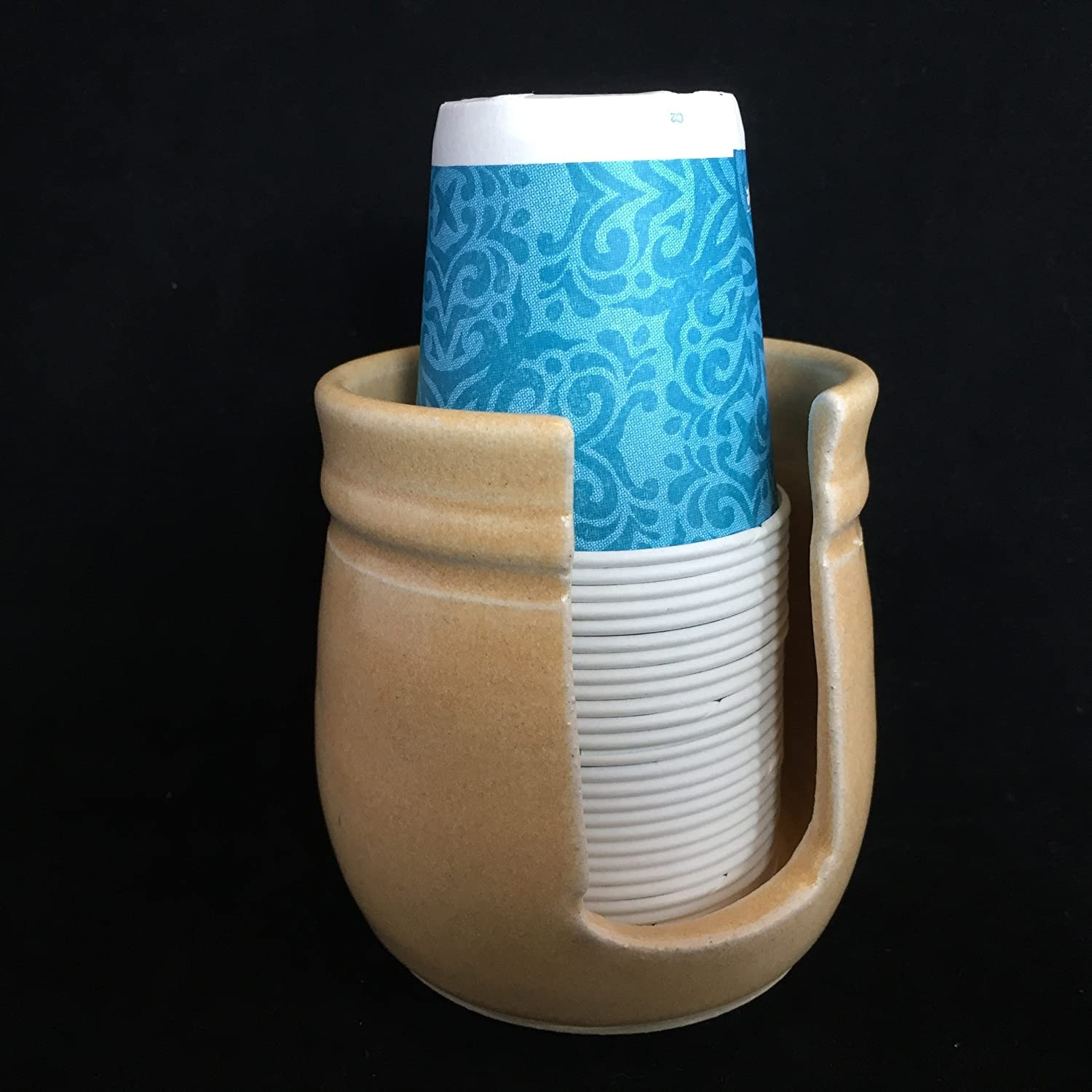 Ceramic Cup Holder - Bone FREE SHIPPING
