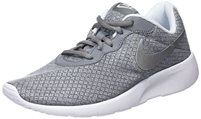 new product 8e6bb c3896 Nike Kids Tanjun (GS) Running Shoe Cool Grey Metallic Silver