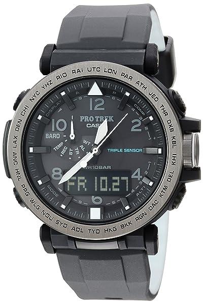Casio Men's 'PRO TREK' Solar Powered Silicone Watch