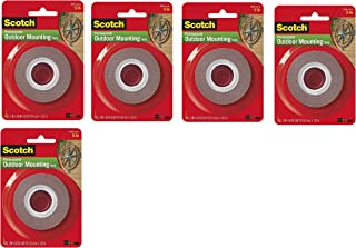 """product image for Heavy-Duty Exterior Mounting Tape, Holds 5 lb, 1""""x60"""", 5 Pack"""