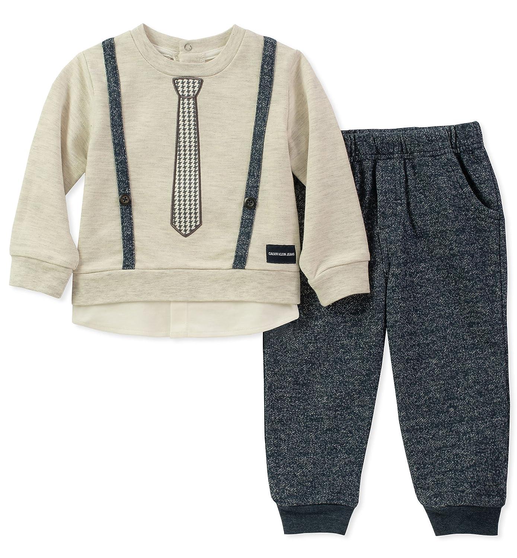 選ぶなら Calvin Months 24 Klein PANTS ボーイズ Calvin 24 Months Oatmeal/Peacoat B078WNFT3T, 内野タオル&バスショップ:00239568 --- a0267596.xsph.ru