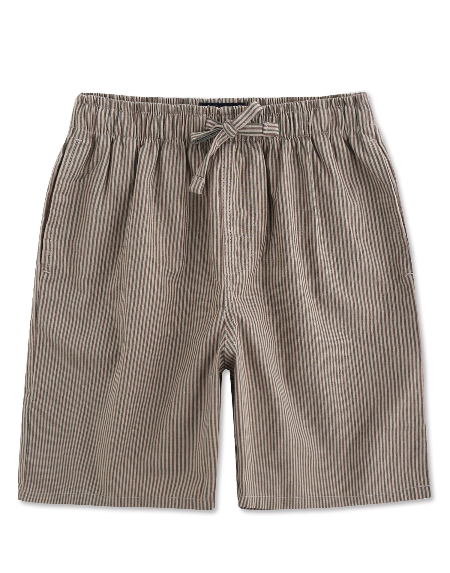 TINFL Men's Plaid Cotton Sleep Lounge Shorts Pajama Pants MSP-12-Khaki S