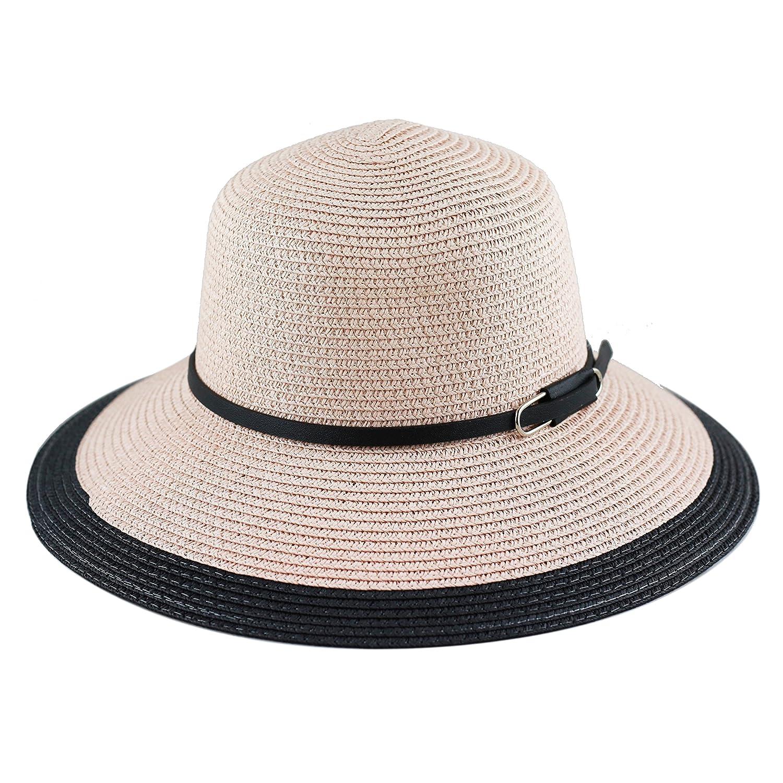 THE HAT DEPOT Womens Floppy Summer Sun Beach Wide Brim Straw Hat