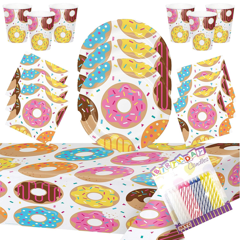 Amazon.com: Donut – Juego de platos para fiestas ...