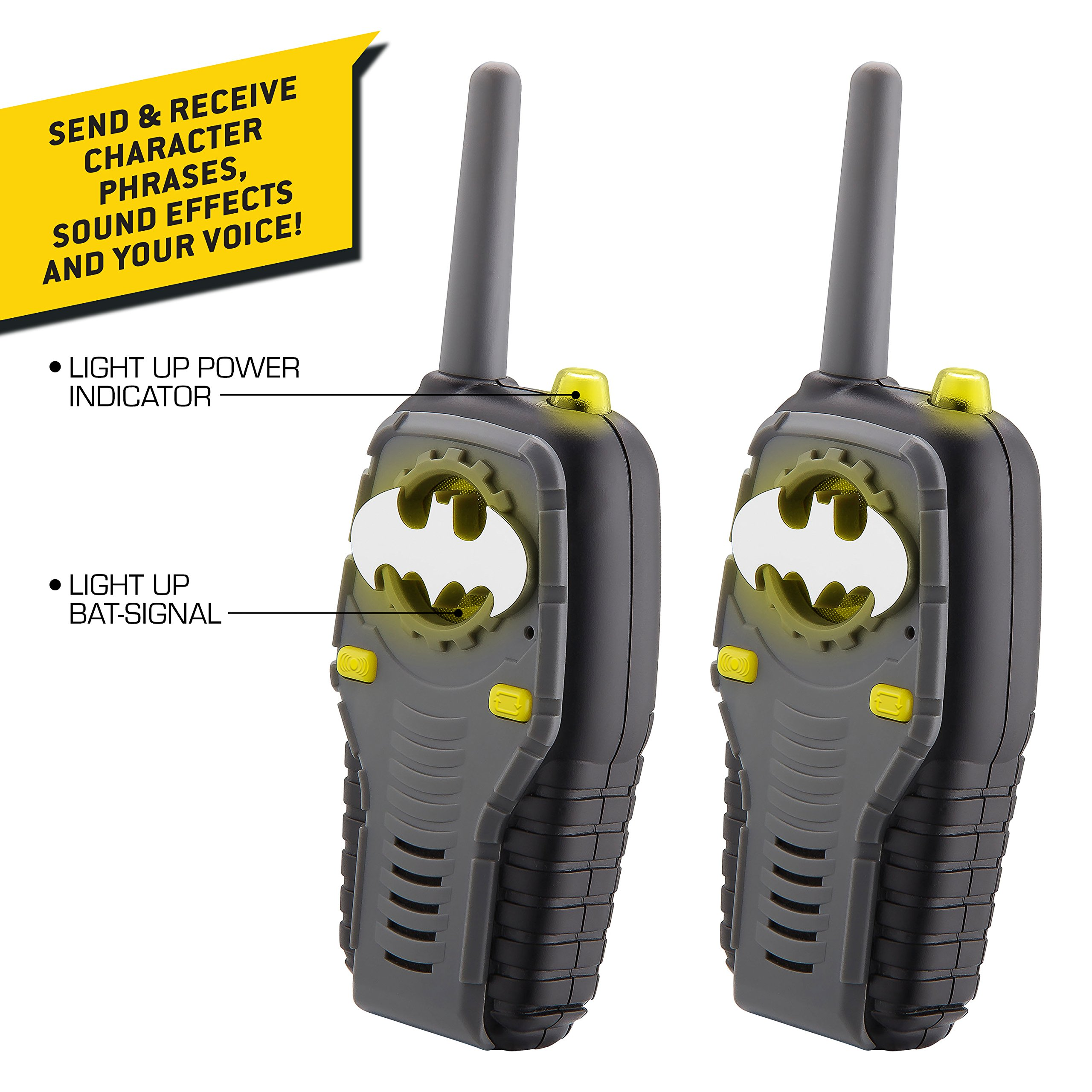 Batman FRS Walkie Talkies for Kids with Lights and Sounds Kid Friendly Easy to Use by eKids (Image #3)