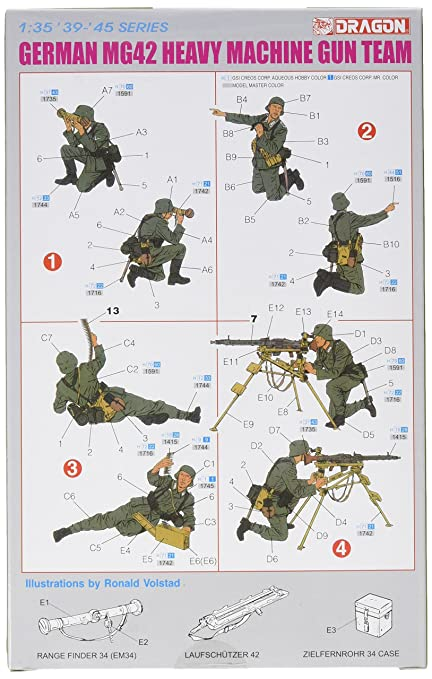 DRAGON 6064 1//35 GERMAN MG42 HEAVY MACHINE GUN TEAM