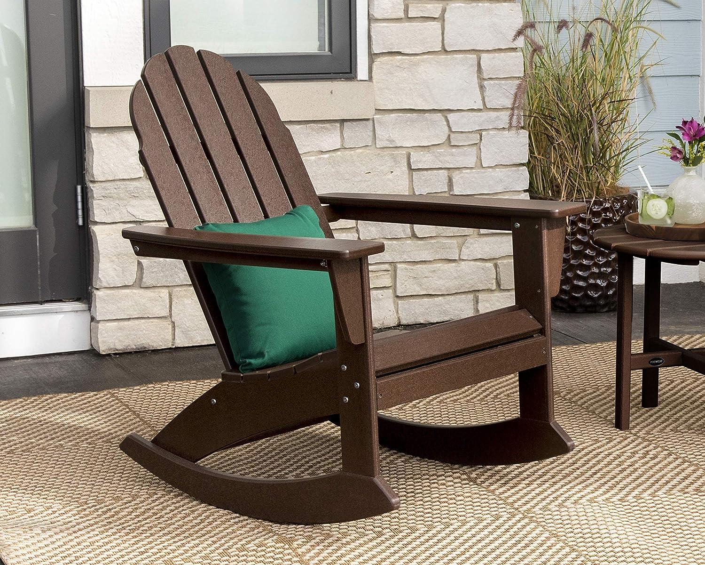 Sand POLYWOOD Vineyard Adirondack Rocking Chair