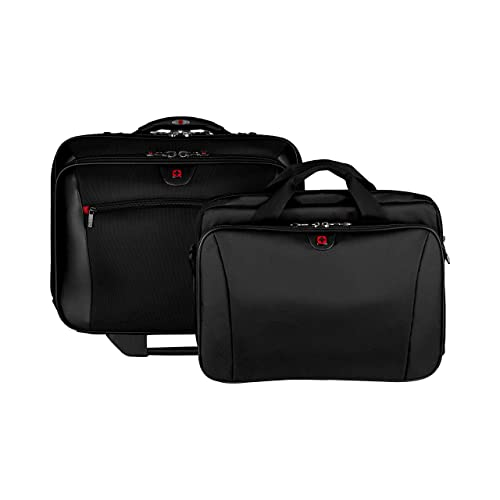 "Wenger 600661 POTOMAC 17"" Wheeled Laptop Case , Padded laptop compartment with overnight compartment in Black {23 Litres}"