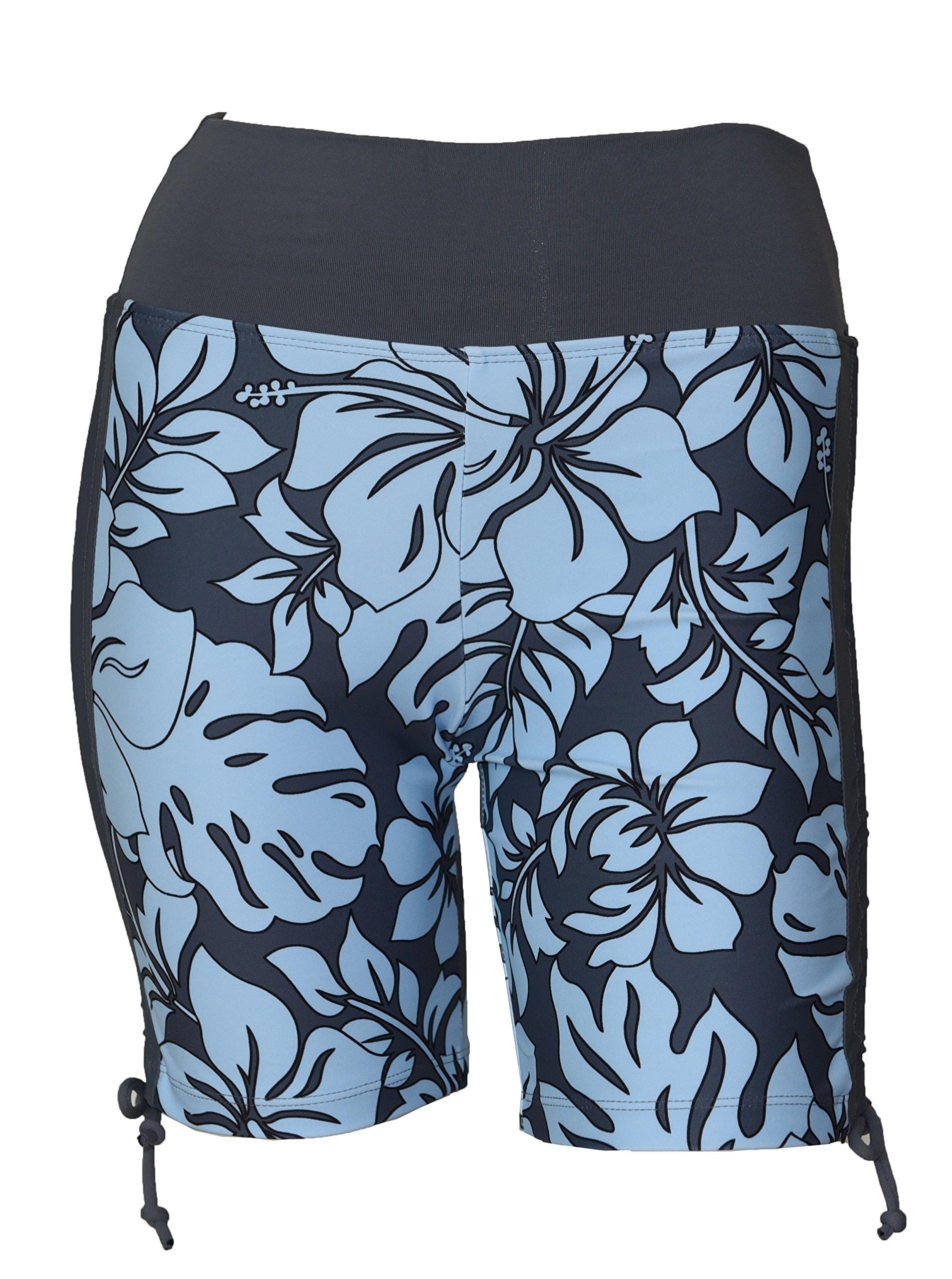 Private Island Women UV Swim Rash Guard Board Shorts Pants Yoga (XXXL, GwB) by Private Island
