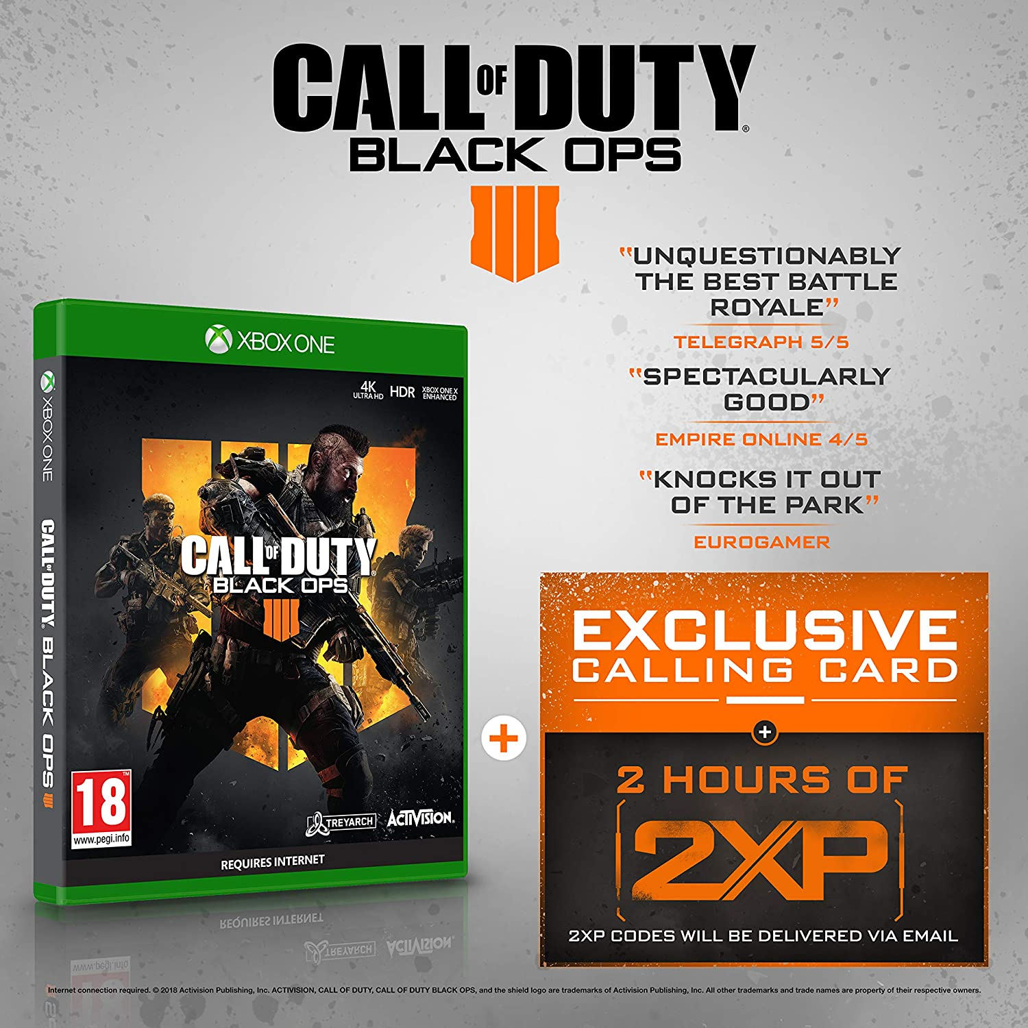 Call of Duty®: Black Ops 4 with 2 Hours of 2XP + an Exclusive ...