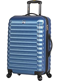387f600dd Lucas ABS Large Hard Case 28 inch Checked Suitcase With Spinner Wheels  (28in, Steel