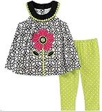 Kids Headquarters Girls Tunic Set - Capsleeves Pants Set