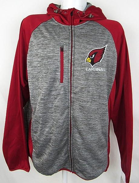 3467b14e G-III Sports Mens NFL Heathered Grey Solid Fleece Full Zip Hooded Jacket,  Team Variation